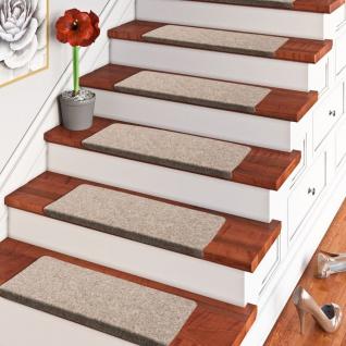 Trend Nadelfilz Stufenmatte Bent Beige Braun Mix (eckig) einzeln oder im 15er Set