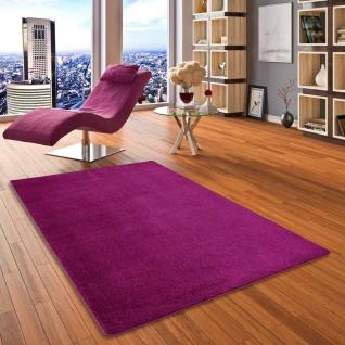 Hochflor Velours Teppich Luna Purple