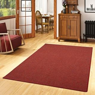 Schlingen Teppich Alma Rot Meliert