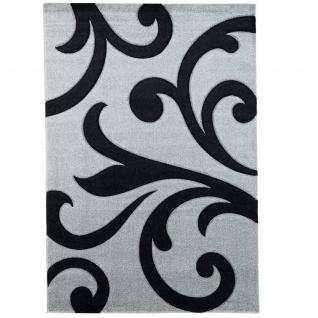 Designer Teppich Maui Grau Schwarz Ranken - Vorschau 5