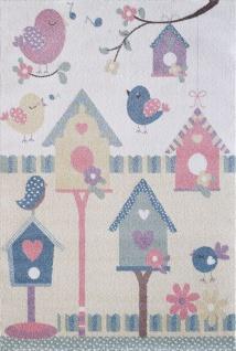 Kinder und Spielteppich Softstar Kids Vögel Pastell Bunt
