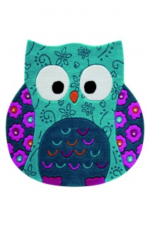 Smart Kids Kinderteppich Little Owl Türkis