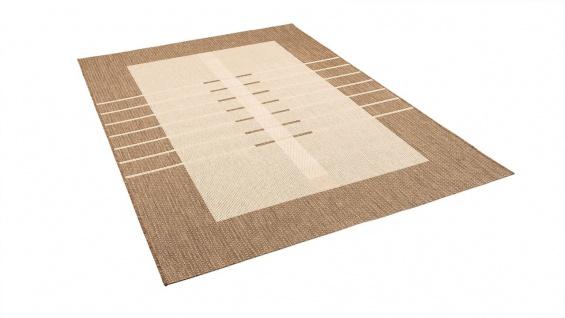 In- und Outdoor Teppich Flachgewebe Carpetto Bordüre Trend Karamell - Vorschau 2