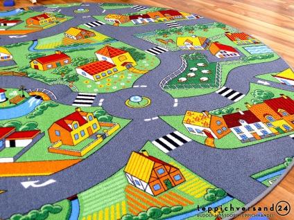 Kinder Spiel Teppich Little Village Grün Rund in 7 Größen - Vorschau 3