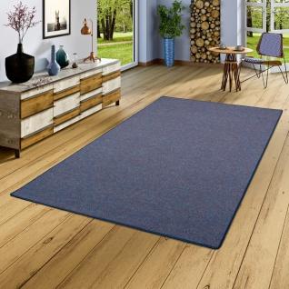 Schlingen Teppich Alma Blau Meliert