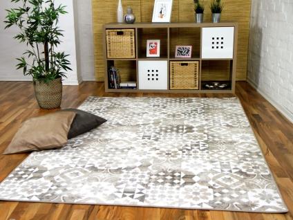Designer Soft-Velours Teppich Finca Beige