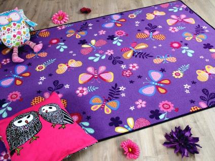 Kinder Spiel Teppich Schmetterling Lila