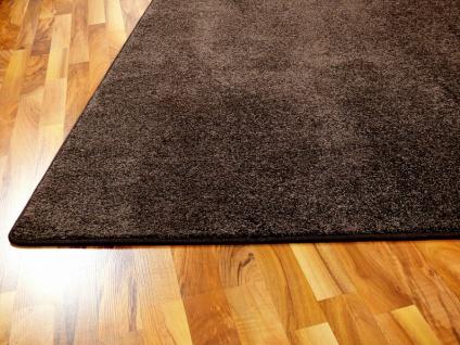 Hochflor Velours Teppich Triumph Dunkelbraun in 24 Größen