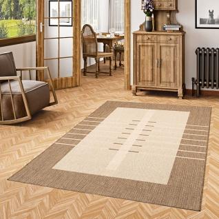 In- und Outdoor Teppich Flachgewebe Carpetto Bordüre Trend Karamell - Vorschau 1