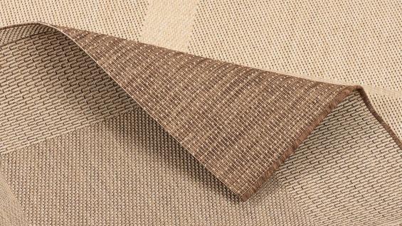In- und Outdoor Teppich Flachgewebe Carpetto Bordüre Trend Karamell - Vorschau 4