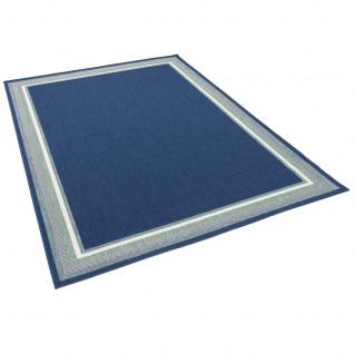 In- und Outdoor Teppich Flachgewebe Carpetto Bordüre Blau - Vorschau 2