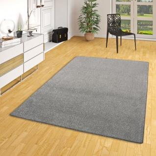 Hochflor Velours Teppich Belini Melange Anthrazit in 24 Größen