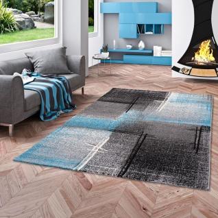 Designer Teppich Brilliant Schwarz Blau Verlauf