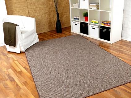 Schlingen Teppich Primo Braun in 24 Größen