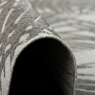 Modern Flachgewebe Ruggy Grau Anthrazit Blätter - Vorschau 3