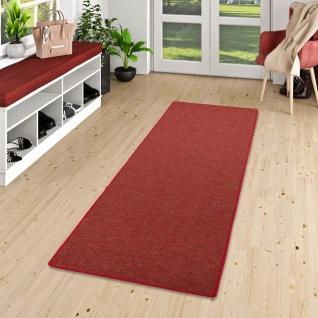Läufer Teppich Schlingen Teppich Alma Rot Meliert
