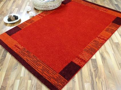Designer Teppich Arizona Bordüre Rot