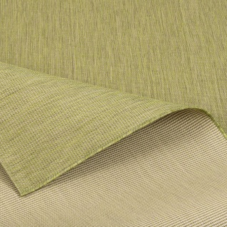 In- und Outdoor Teppich Flachgewebe Carpetto Uni Grün Mix