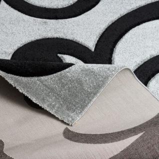 Designer Teppich Maui Grau Schwarz Ranken - Vorschau 3