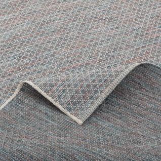 In- und Outdoor Teppich Flachgewebe Carmel Blau Meliert - Vorschau 4