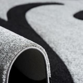 Designer Teppich Maui Grau Schwarz Ranken - Vorschau 4