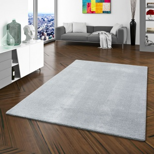 Hochflor Luxus Velours Teppich Touch Grau