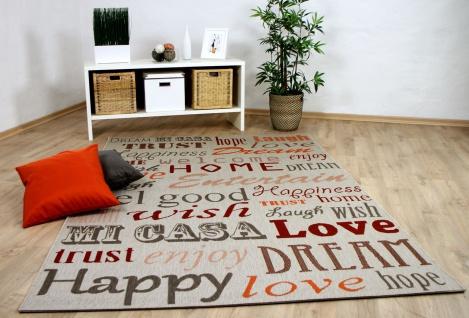 In- und Outdoor Teppich Flachgewebe Carpetto Beige HOME