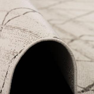 In- und Outdoor Teppich Flachgewebe Carpetto Beige Rauten - Vorschau 3