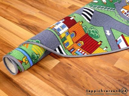 Kinder Spiel Teppich Little Village Grün Rund in 7 Größen - Vorschau 4