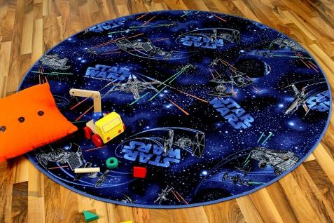 Kinder Spiel Teppich STAR WARS Blau Rund