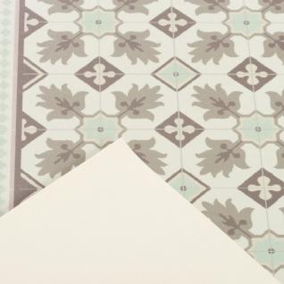 Vinyl Teppich Küchenläufer Evora Fliesenoptik Mintgrün - Vorschau 3