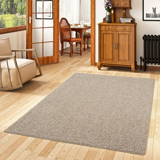 Hochflor Velours Teppich Mona Mix Taupe