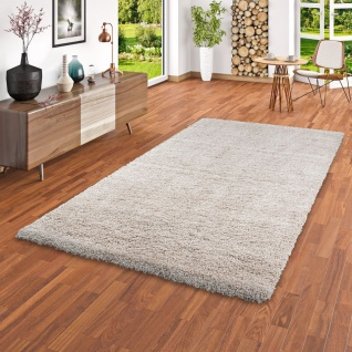 Hochflor Langflor Shaggy Teppich Luxury Champagner