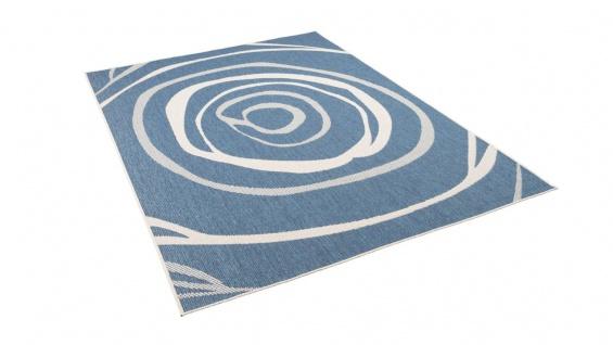 In- und Outdoor Teppich Beidseitig Flachgewebe Newport Blau Kreise - Vorschau 5