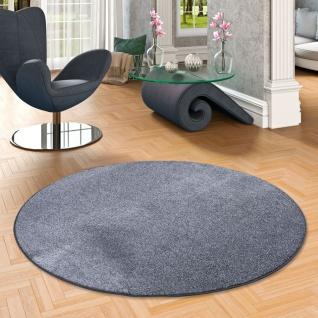 Luxus Soft Velours Teppich Shine Anthrazit Rund