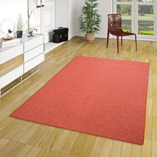 Feinschlingen Velour Teppich Strong Terrakotta