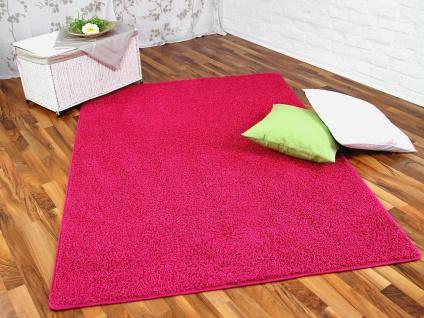 Hochflor Shaggy Teppich Prestige Pink in 24 Größen