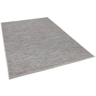 In- und Outdoor Teppich Flachgewebe Carmel Blau Meliert - Vorschau 2