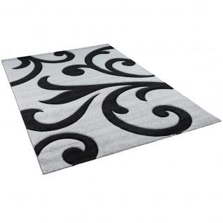 Designer Teppich Maui Grau Schwarz Ranken - Vorschau 2