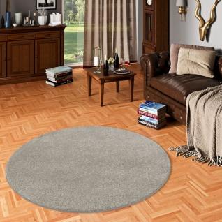 Luxus Velours Teppich Laguna Soft Stone Rund