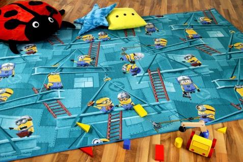 Kinder Spiel Teppich MINIONS Türkis
