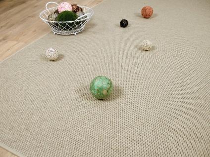 Natur Teppich Wolle Bentzon Flachgewebe Beige