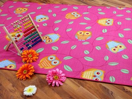 Kinder Spielteppich Eule Pink in 24 Größen