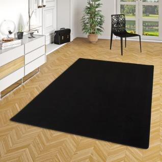 Basic Velours Teppich Carla Schwarz