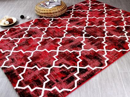 Designer Teppich Arizona Ethno Brombeere - ABVERKAUF