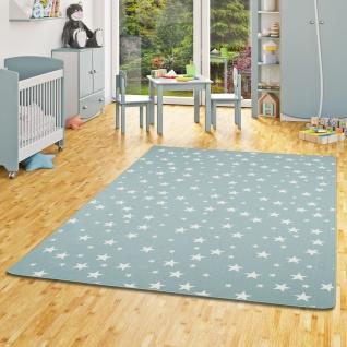 Kinder Spiel Teppich Sterne Mintgrün