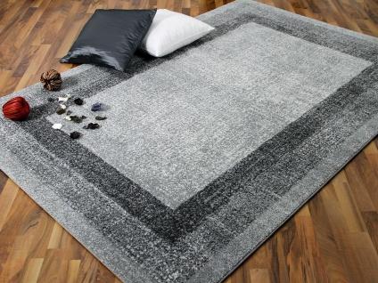 Designer Teppich Softstar Grau Bordüre
