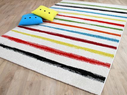 Teppich gestreift bunt teppich modern splash designer teppich