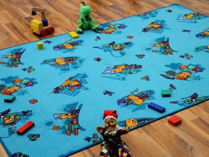 Kinder Spielteppich Bärenwelt Türkis in 24 Größen