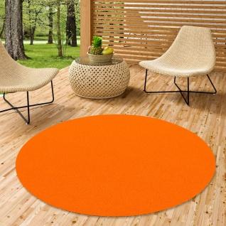Luxus Designer Kunstrasen Miami Orange Rund
